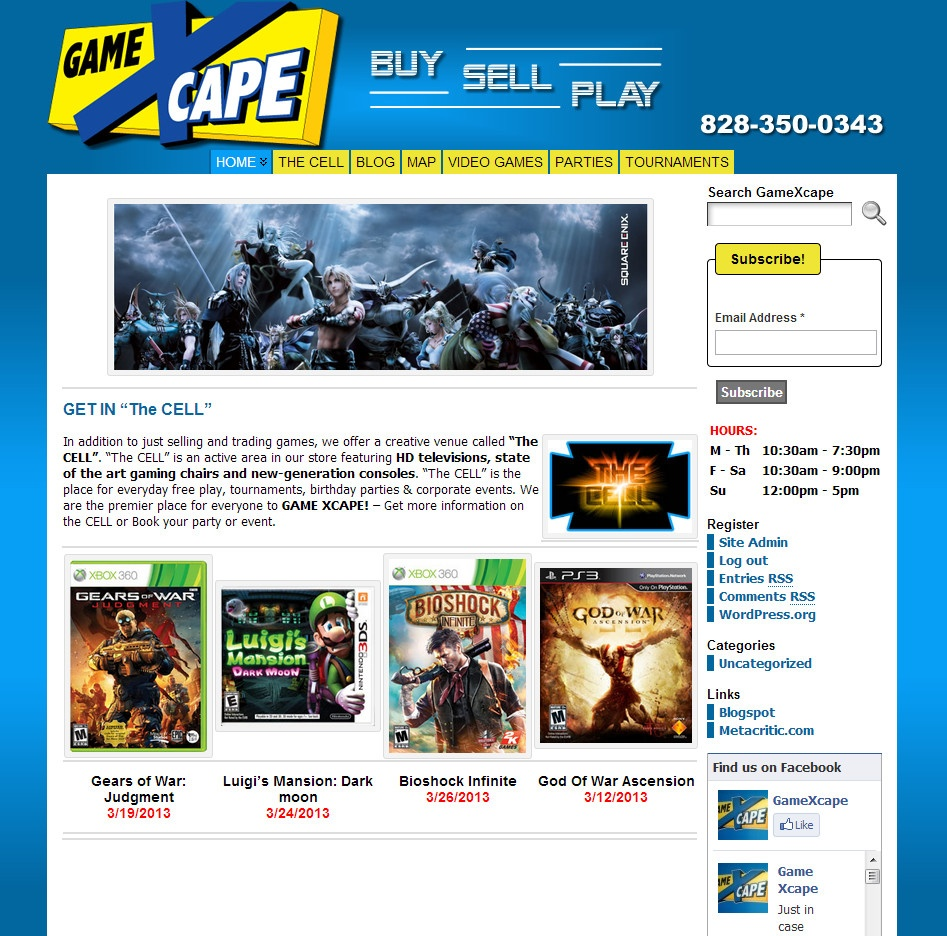 asheville play station, xbox video games website