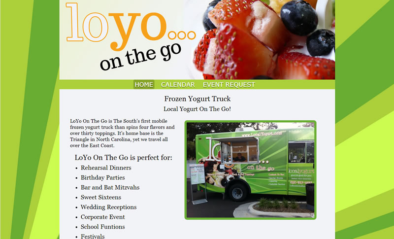 Food Truck Websites with menu and weekly specials widget